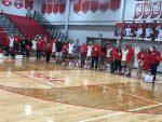 Volleyball sweeps Saints on senior night
