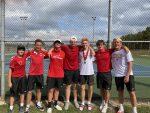 Tennis wins final home match