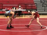 Wrestlers fall on senior night
