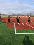 Softball christens new field with victory