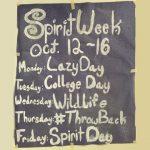 Spirit Week, October 12-16