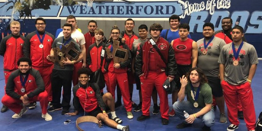 Boys Varsity Powerlifting finishes 1st place at Boys Regional Meet (Weatherford High School)