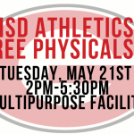 FREE Athletics Physicals May 21st