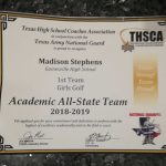 Madison Stephens Makes Academic All-State Golf Team