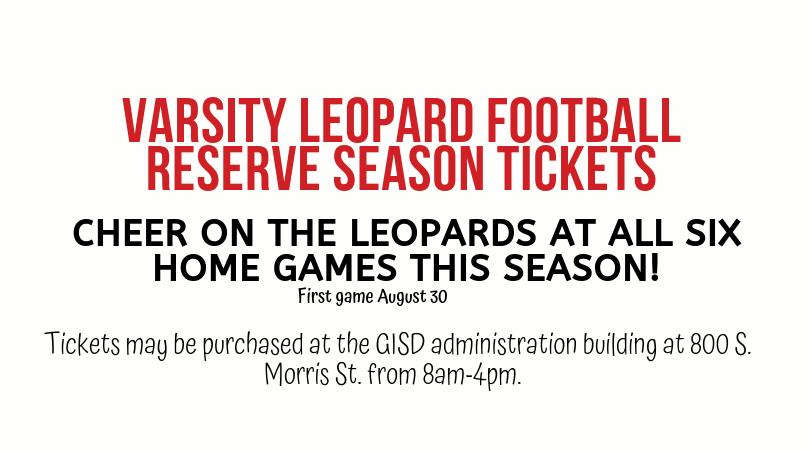 2019 Reserve Season Tickets