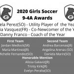 2020 Girls Soccer District Awards