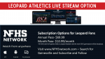 LIVE Video Stream Available for Leopard Athletics