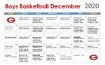 Boys Basketball Dec Calendar