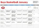 HS Boys Basketball Jan 2021 Calendar