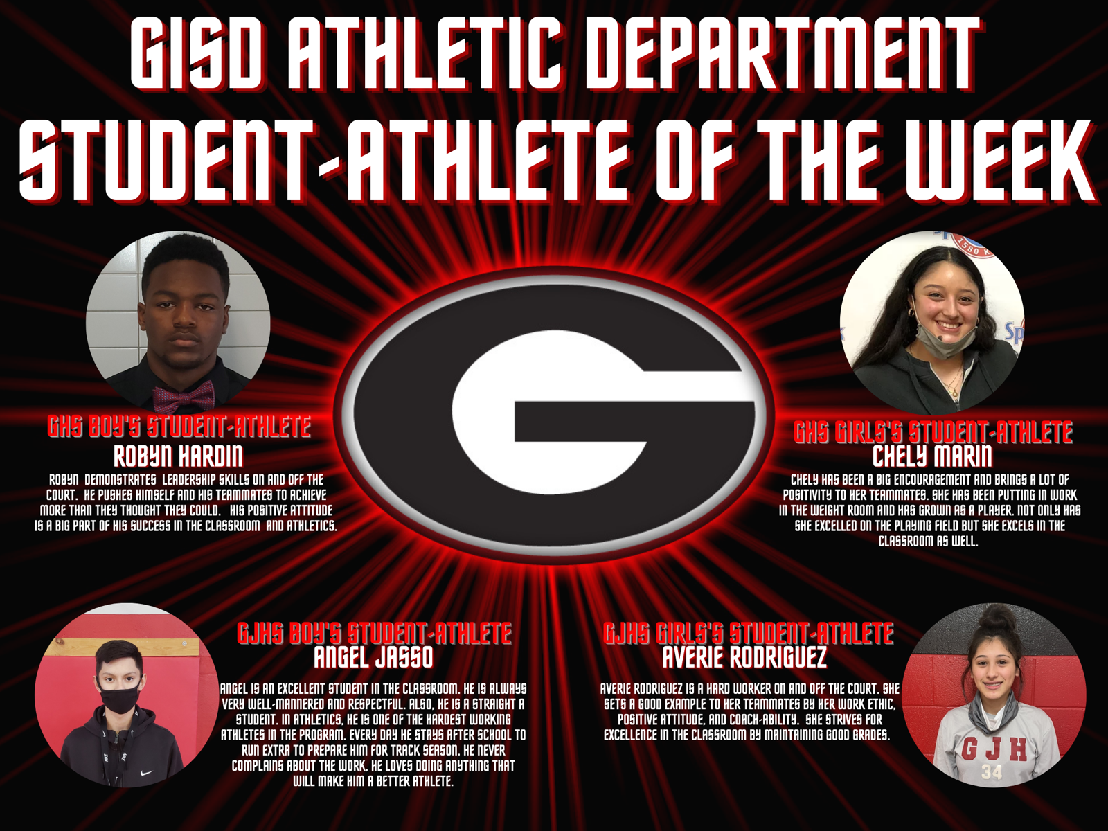 GISD Student-Athletes of the Week (1/18/2021)