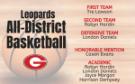 Leopards Earn All-District Basketball