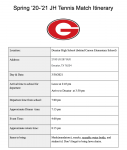 GJHS Tennis Travels to Decatur 3/30 for First Dual of Spring!!!!!