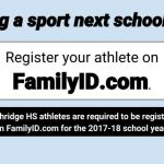 Playing a sport? Register online