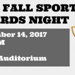 2017 Fall Sports Awards Night on 11/14
