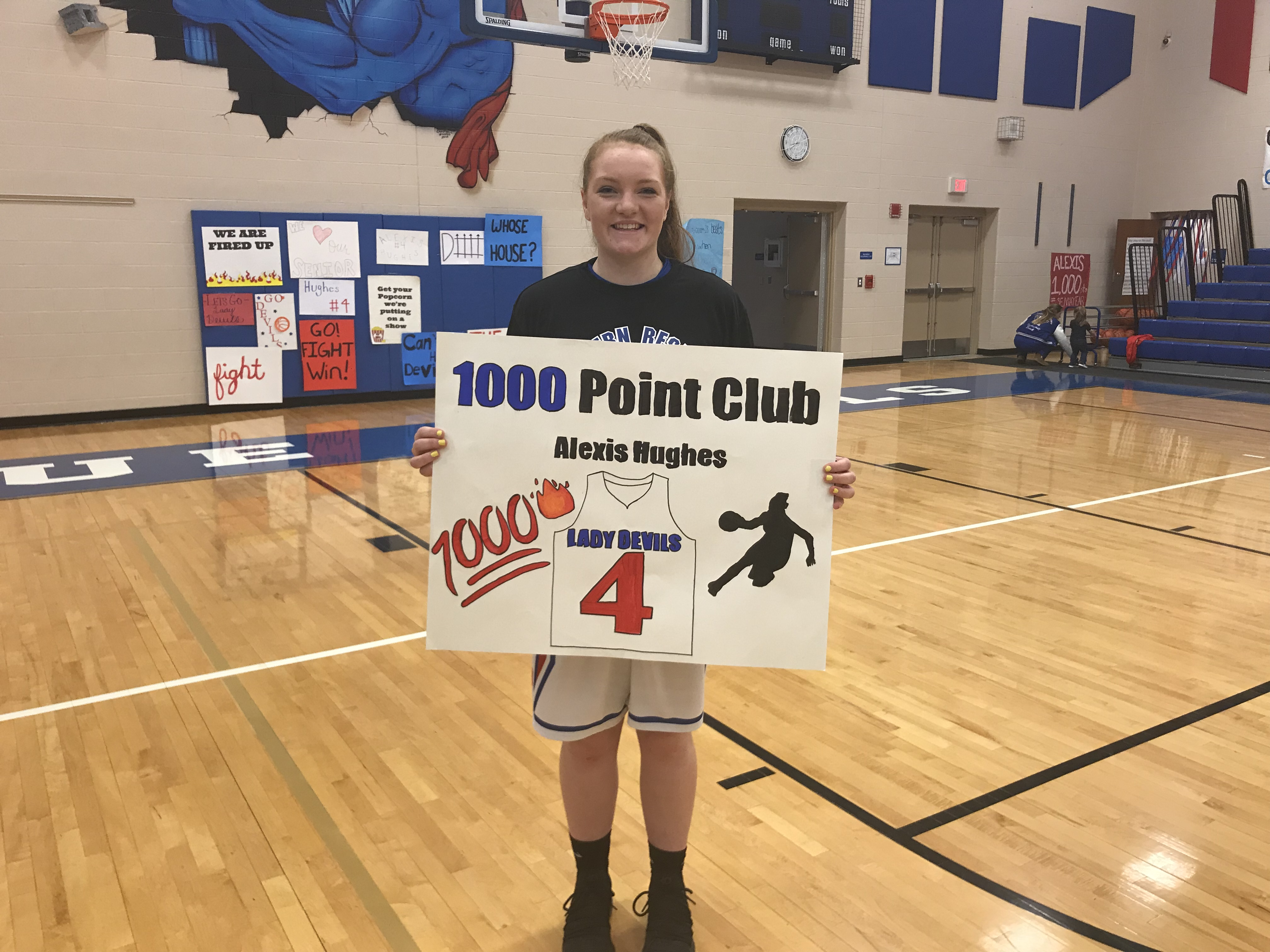 Congratulations Alexis Hughes for achieving the 1,000 point milestone!