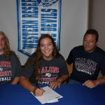 Layla Woolf signs with Malone Softball