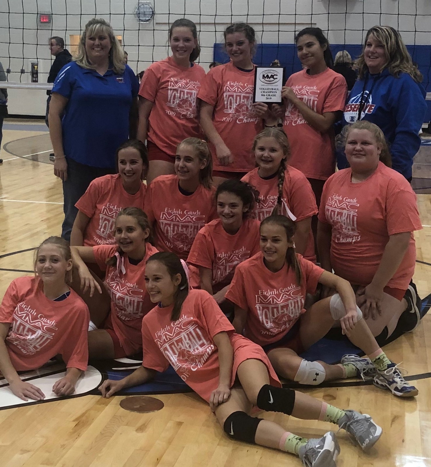 8th Grade Volleyball Cap's off perfect season with MVAC championship