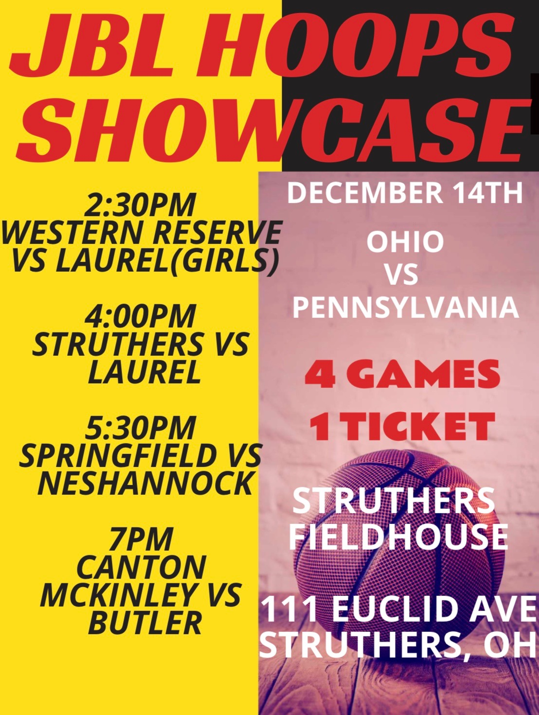 Girls playing in Ohio vs Pennsylvania Showcase