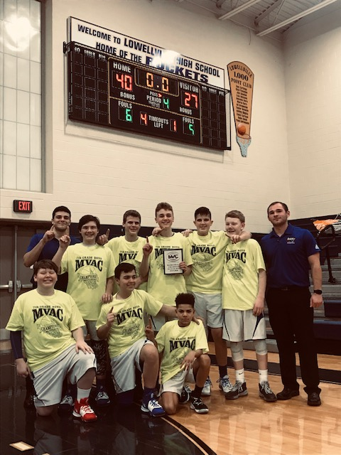 7th Grade Boys Basketball cap off an undefeated season