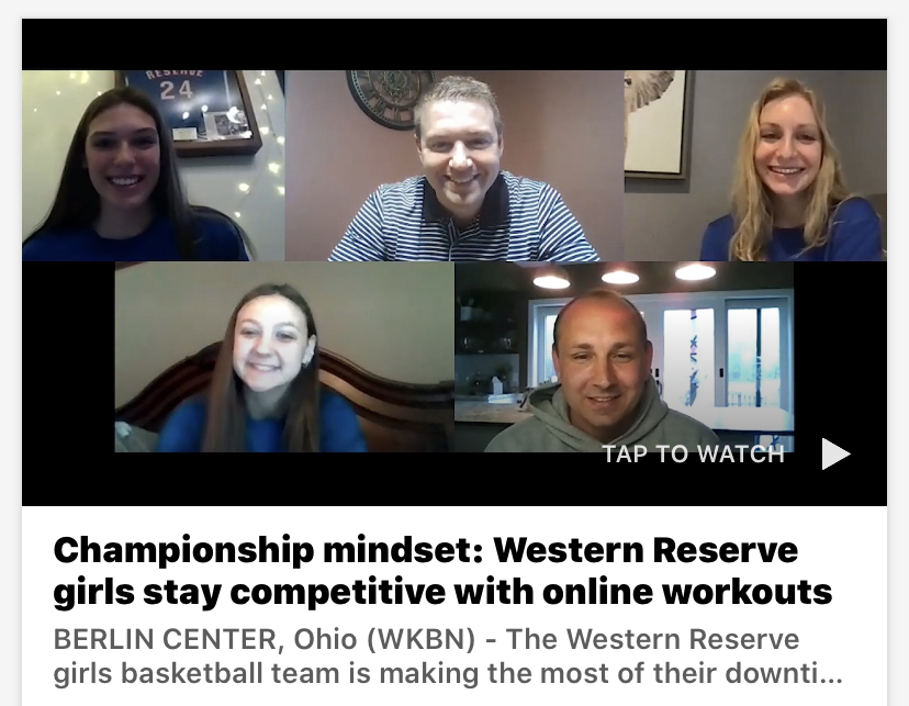 Championship mindset: Western Reserve girls stay competitive with online workouts