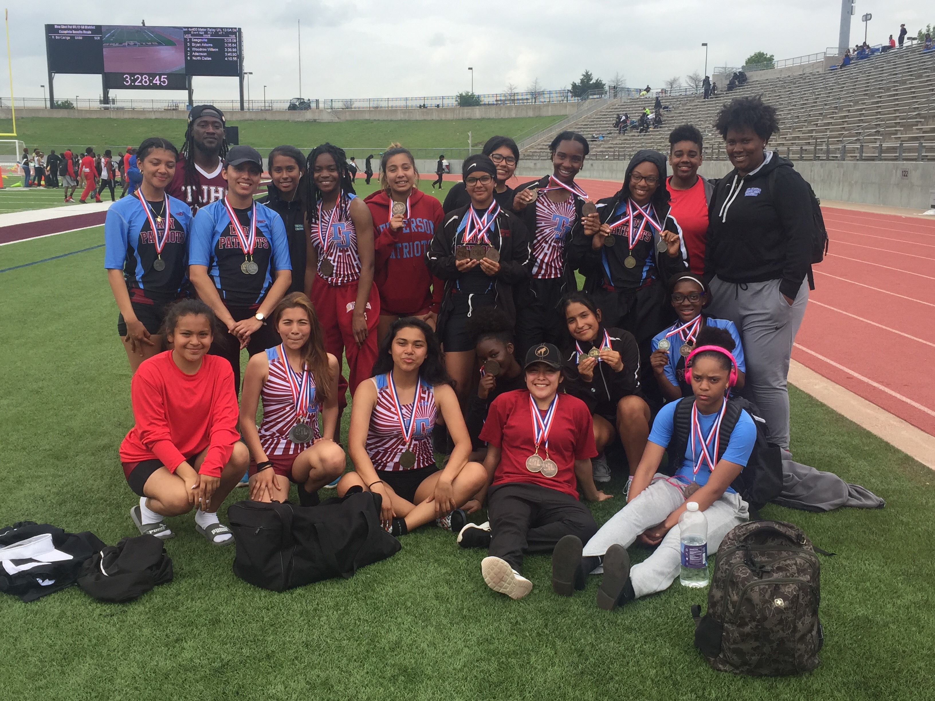 Girls Track is full of District Champions!!