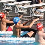 Carlmont High School Boys Junior Varsity Swimming beat Burlingame High School 104-80