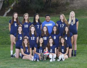 2017 Frosh Girls Volleyball Team Photo