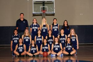 Girls Junior Varsity Basketball Team Photo 2018