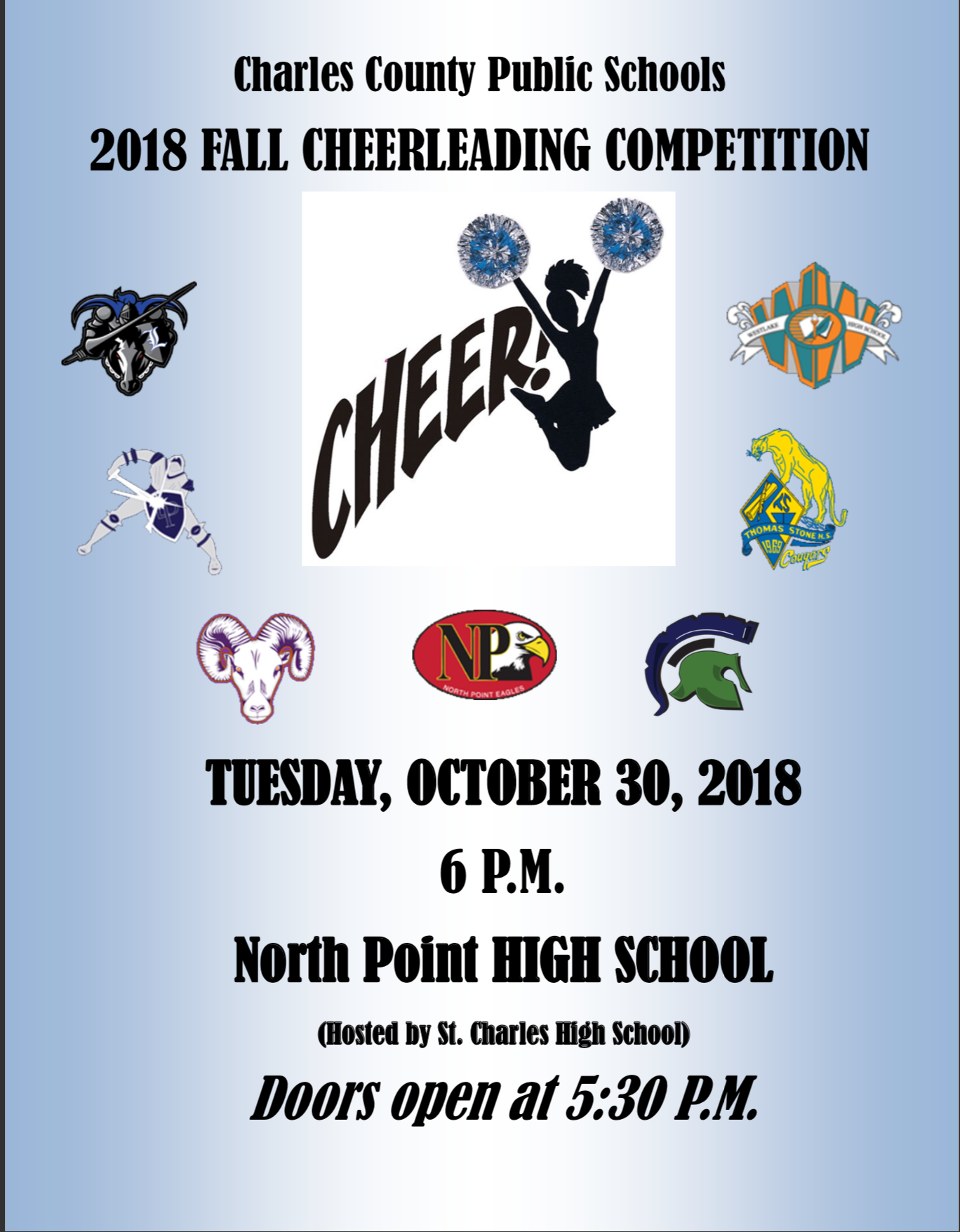 2018 Fall Cheerleading Competition – Charles County