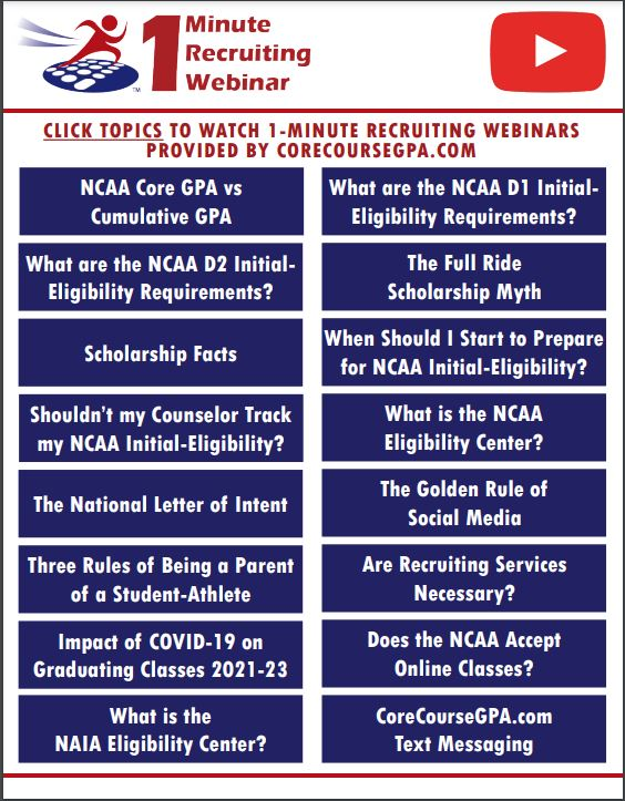 NCAA Recruiting Webinars – FREE
