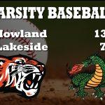 Baseball Defeats Lakeside Again 13-7