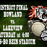 Good Luck Boys Soccer in the District Final