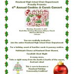 Join Howland Choir Department's Cookies and Carols on Monday, 12/9 at 7 pm at North Mar Church