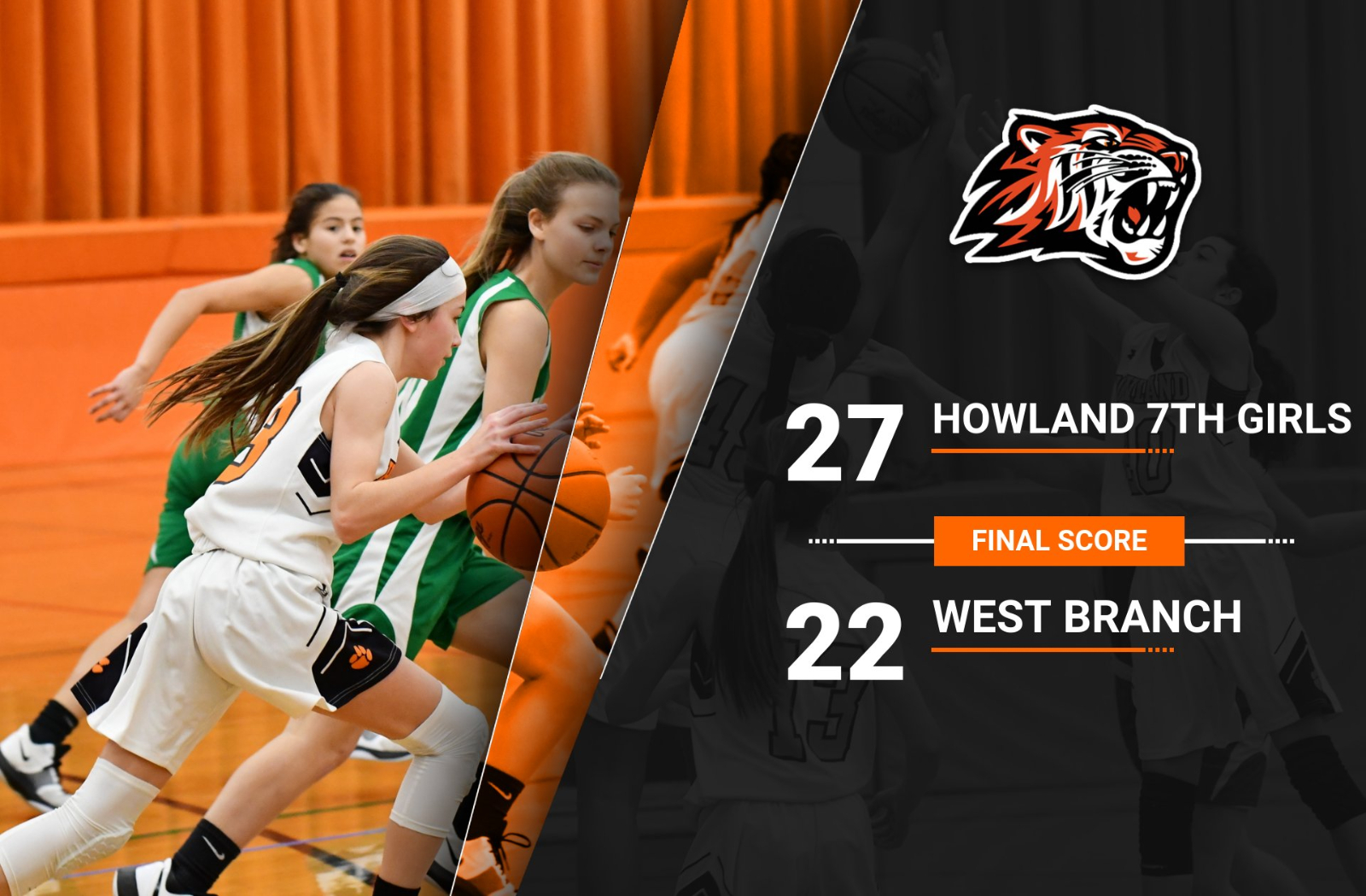 7th Girls Defeat West Branch