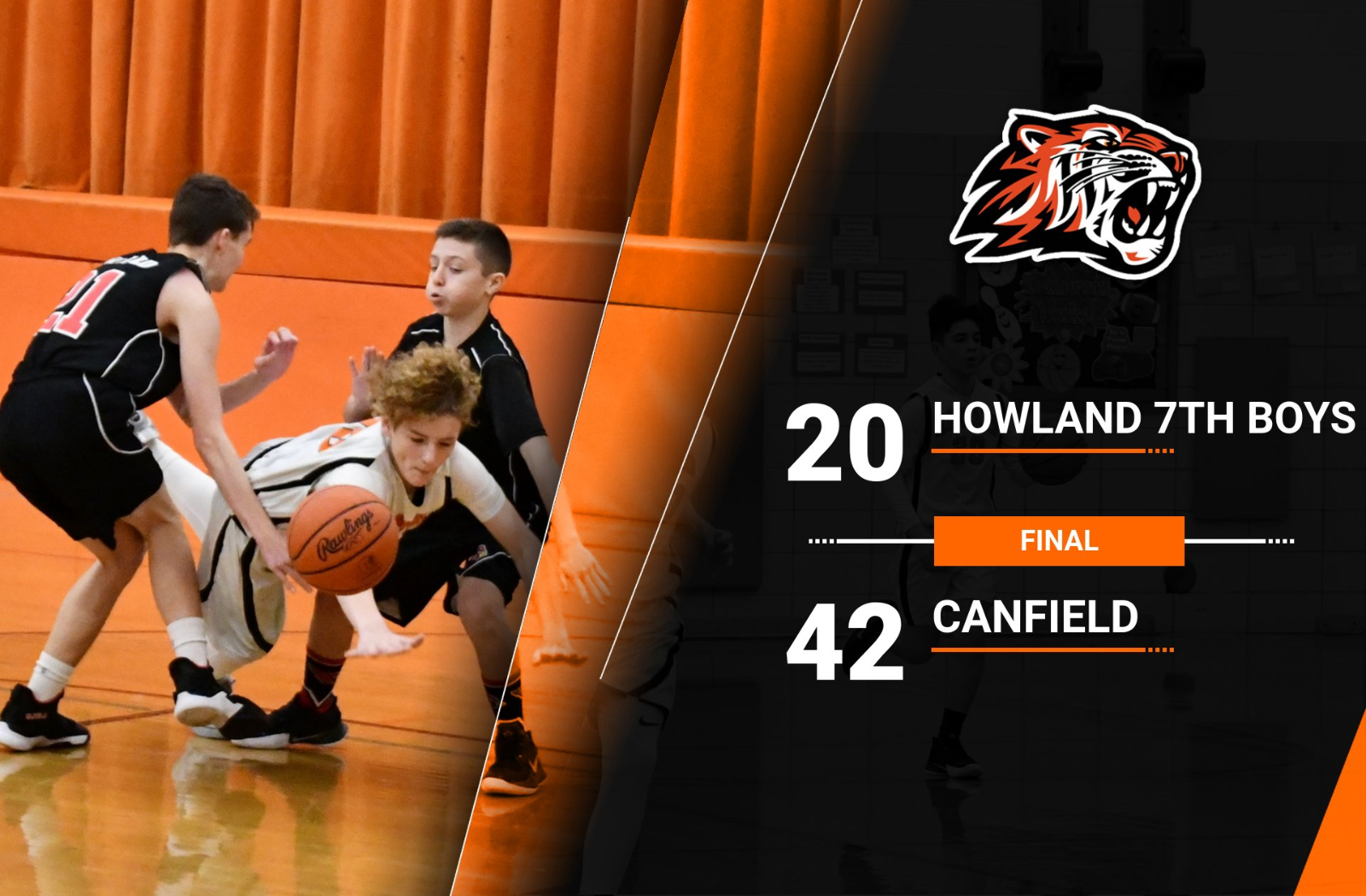 7th Boys Lose to Canfield