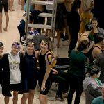 Girls 400 relay breaks school record, Mindek wins 100 breast stroke, Howland gets 5 to districts