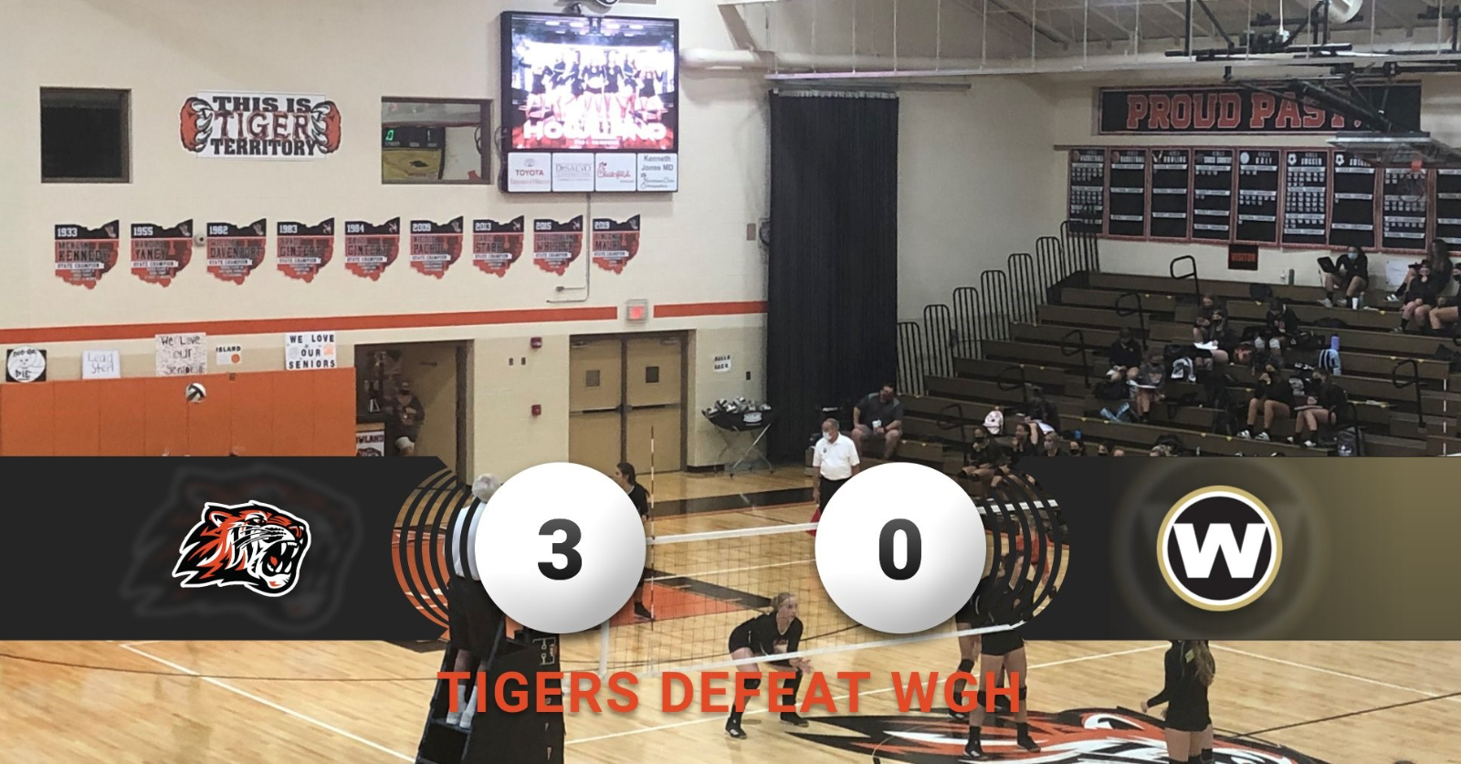 Volleyball defeats WGH 3-0 for their 9th win!
