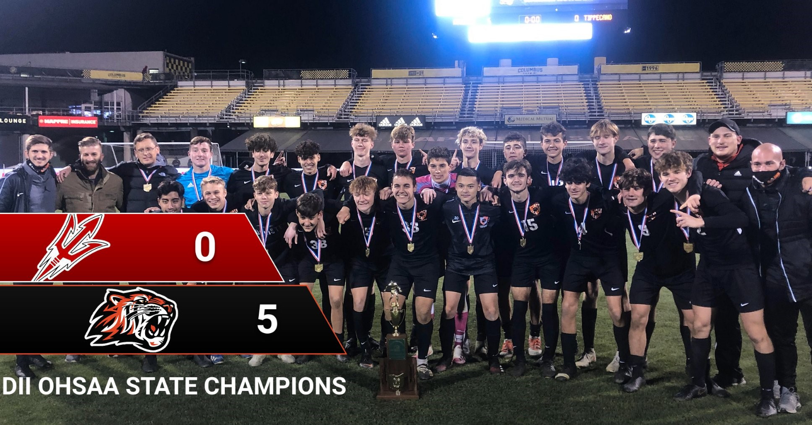 Boys Soccer Division II OHSAA State Champions! 1st ever Team State Championship in School History!