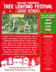 Howland Community Tree Lighting Festival 11/29 at Howland HS Parking Lot 2-4 pm