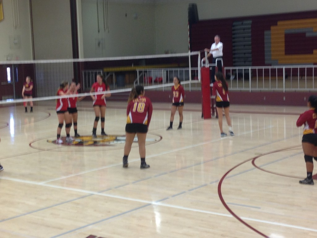 Colton High School Girls Varsity Volleyball beat Chaffey High School 3-2
