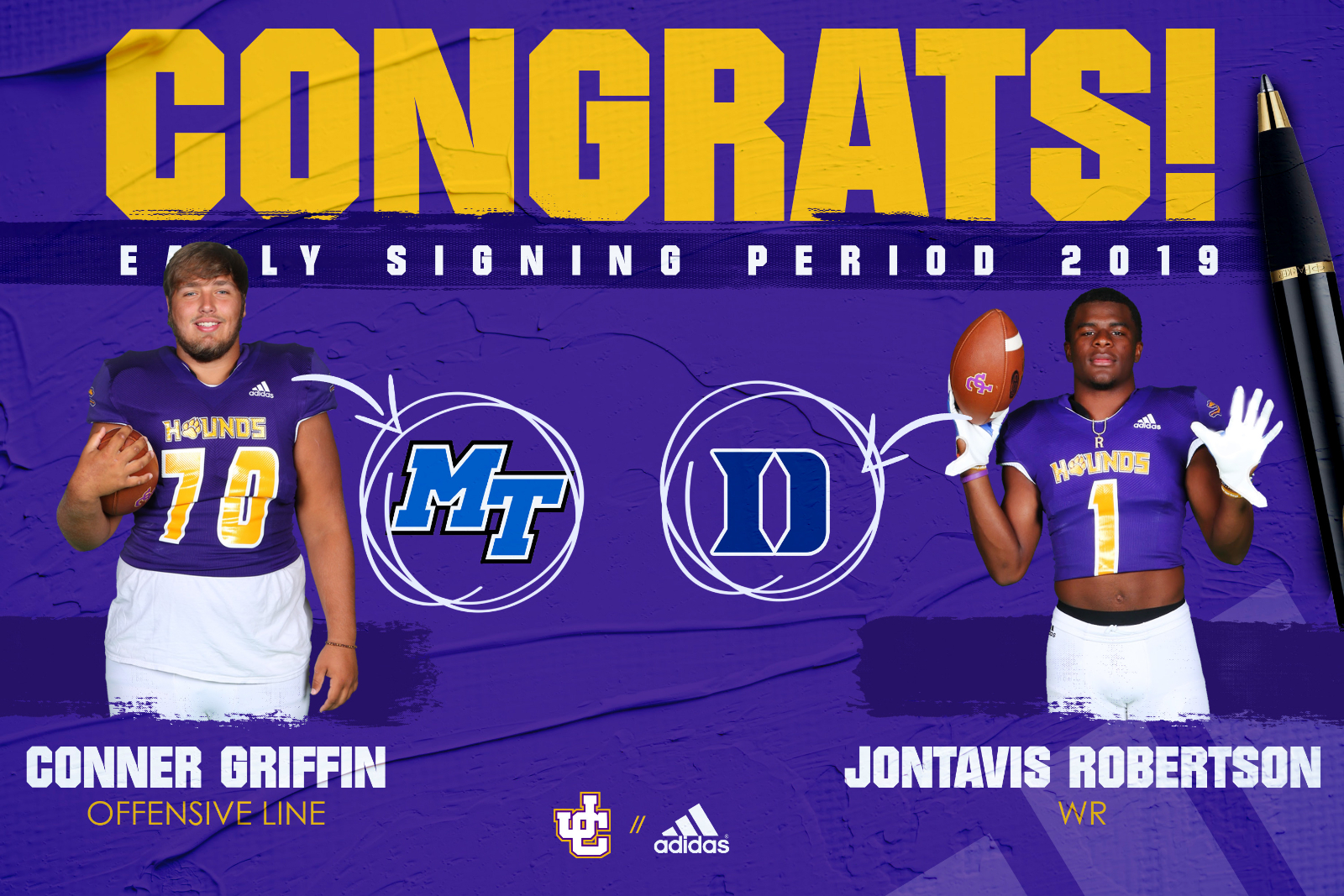 Robertson and Griffin Commit on Early Signing Day