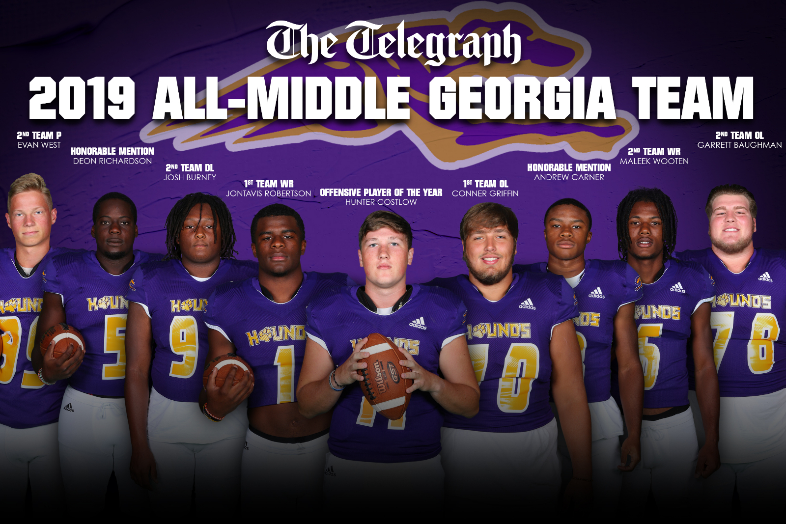 Greyhounds Named to 2019 All-Middle Georgia Team
