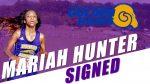 Mariah Hunter Signs Scholarship