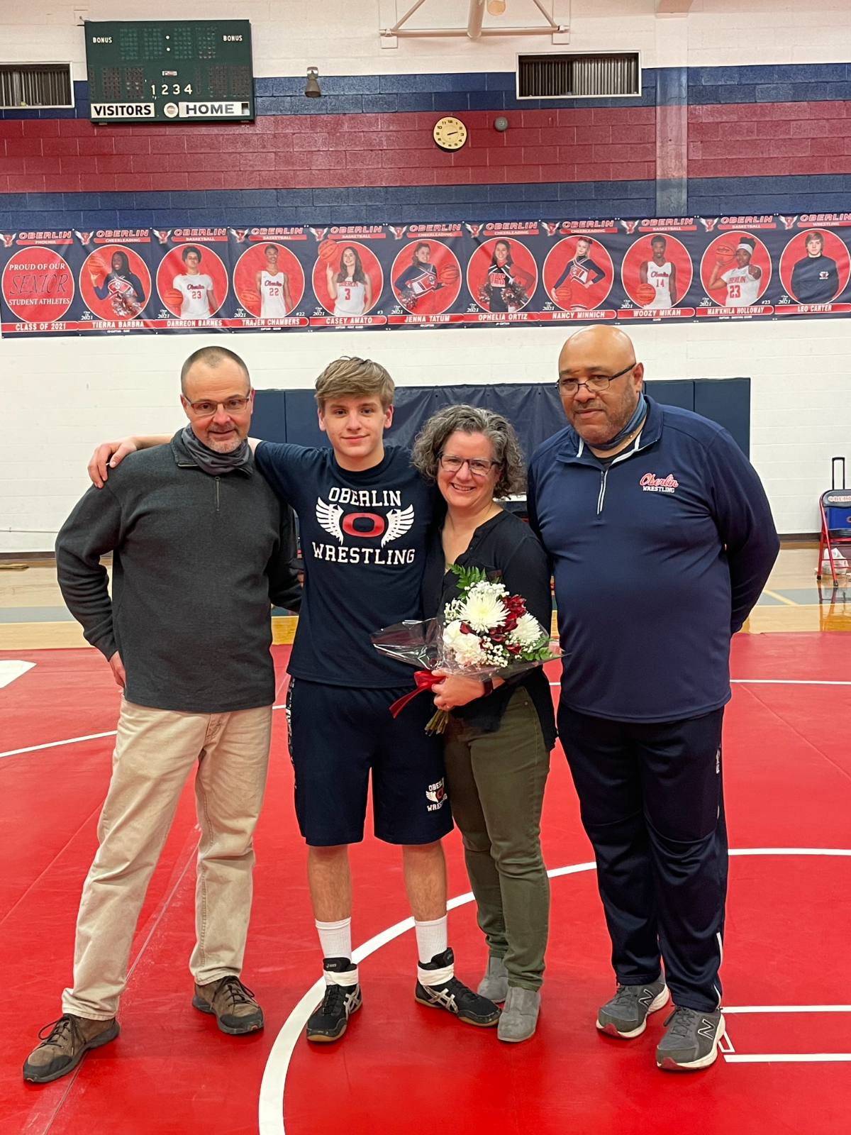 Wrestling Senior Night by Erik Andrews
