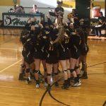 East Central High School Girls Varsity Volleyball falls to Holmes High School 3-0