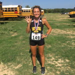 A Fight To The Finish: Emily Cartwright placed 4th out of 113 varsity girls at the Northside meet Saturday