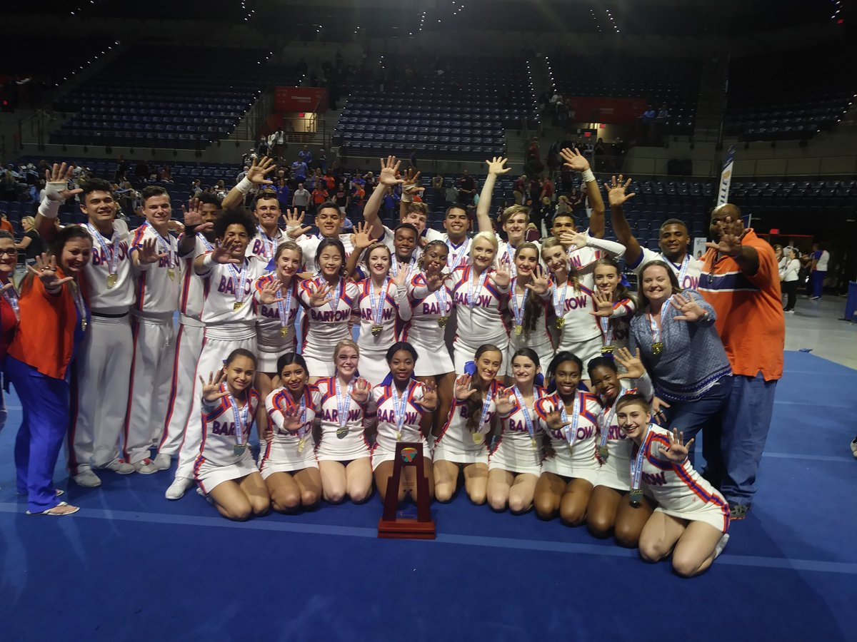 Bartow wins 5th straight cheer title