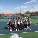 Boys Varsity Tennis beats Greenville Senior 4 – 1