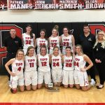 Girls Varsity Basketball beats Troy 46 – 32 and Win GWOC North For Third Year Straight!!
