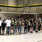 Girls Soccer Team Honored at Volleyball Game